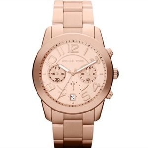 MK rose gold watch